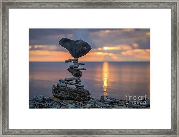 Rock Boarding Framed Print
