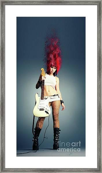 Rock Chick Framed Print
