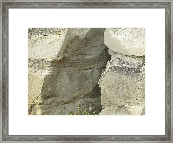 Rock Cleavage Framed Print
