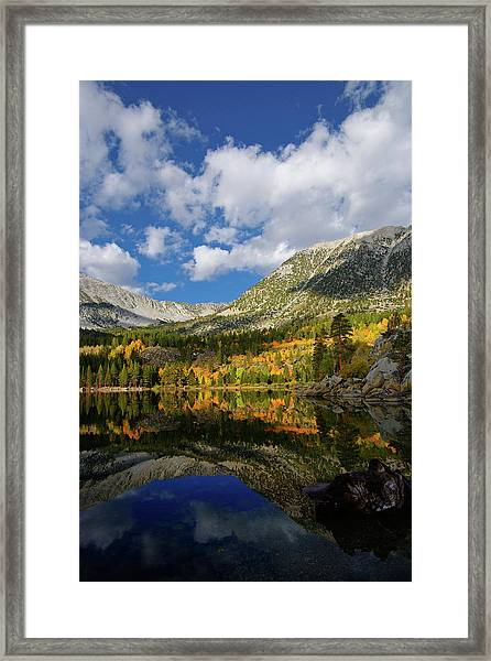 Rock Creek Lake Reflection Eastern Sierra Framed Print