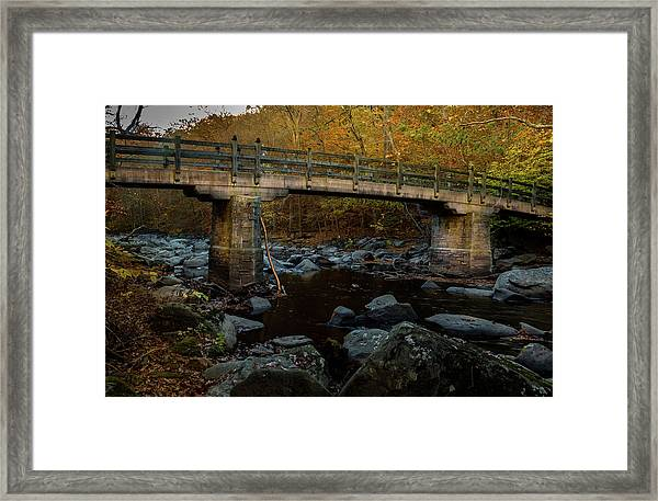 Rock Creek Park Bridge Framed Print