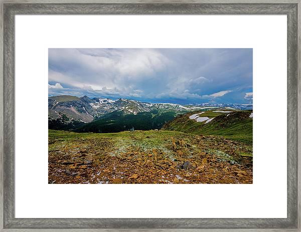 Rock Cut 2 - Trail Ridge Road Framed Print