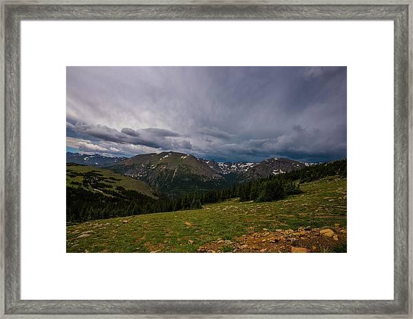 Rock Cut 3 - Trail Ridge Road Framed Print