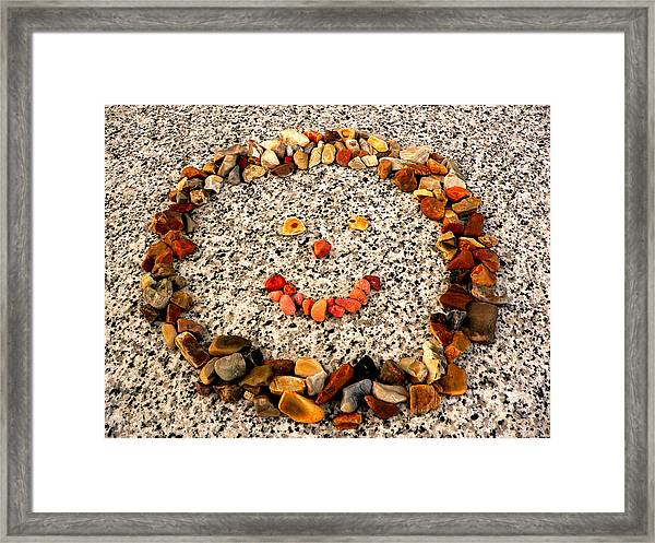Rock Face On Granite Framed Print