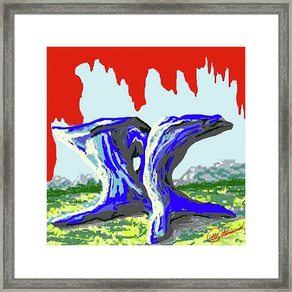 Rock Formations Framed Print