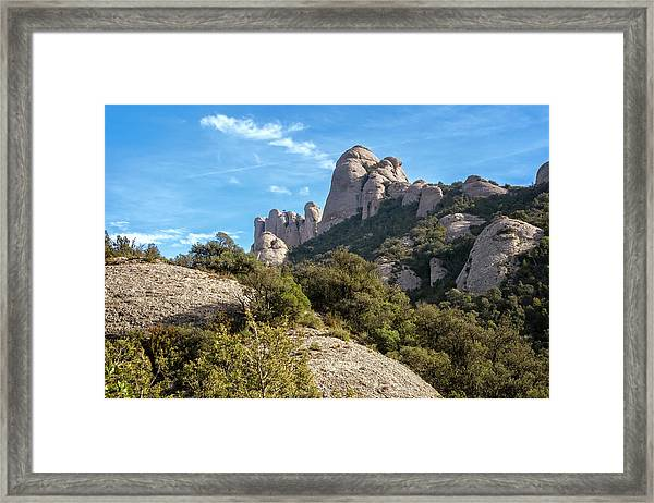 Rock Formations Montserrat Spain II Framed Print