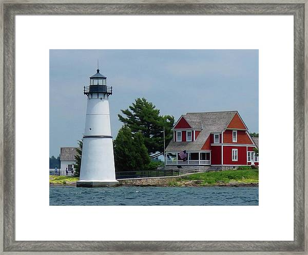 Rock Island Lighthouse July Framed Print