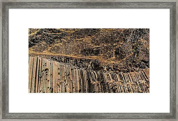 Rock Mountain Rock Art By Kaylyn Franks Framed Print