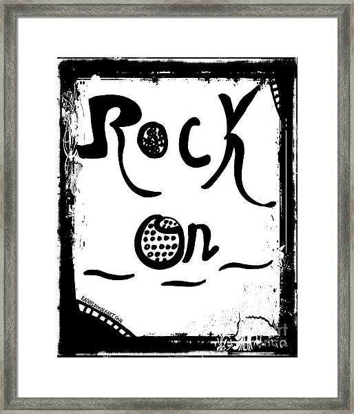 Framed Print featuring the drawing Rock On by Rachel Maynard