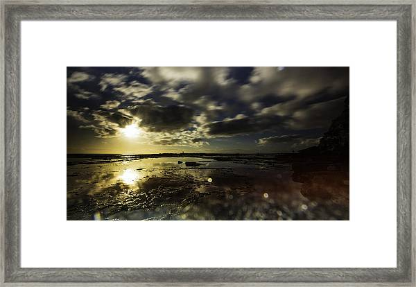 Rock Pool Sunrise Framed Print
