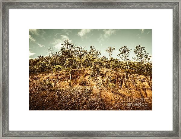 Rock Quarry Landscape Framed Print