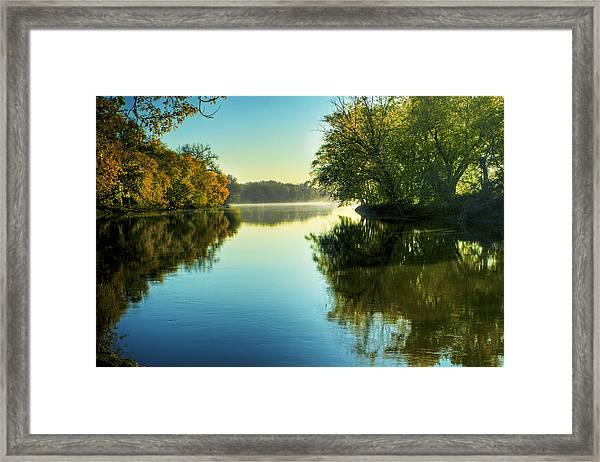 Rock River Autumn Morning Framed Print
