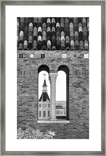 Rock Springs Steeple Window Framed Print by David Halter