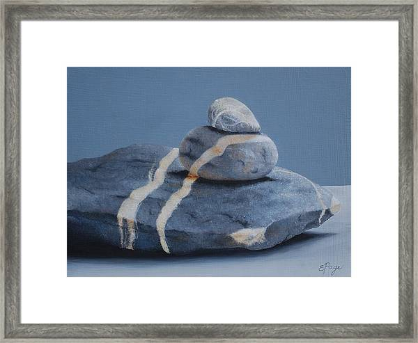 Rock Stack Framed Print