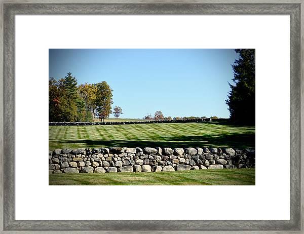 Rock Wall Lawn Framed Print