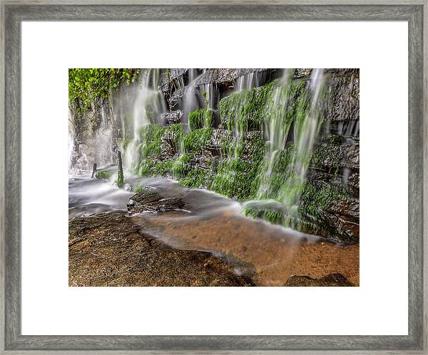 Rock Wall Waterfall Framed Print