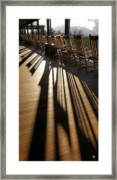 Rockers - Mohonk Mountain House Framed Print