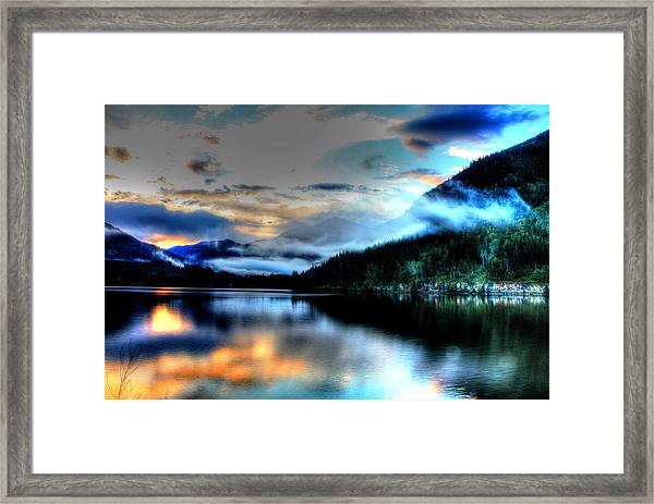 Rockie Mountain Mist Framed Print