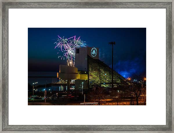 Rocking Fireworks Framed Print