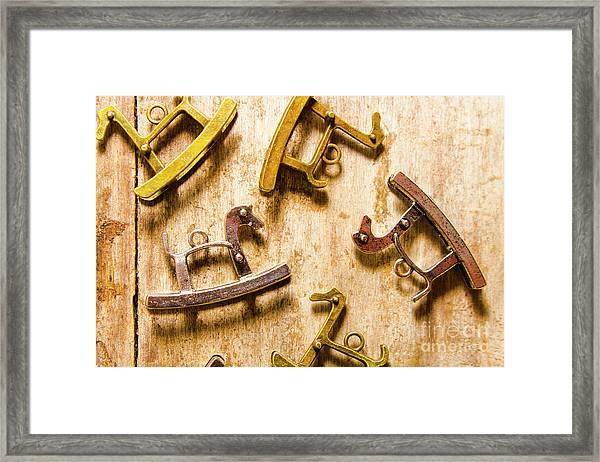 Rocking Horses Art Framed Print