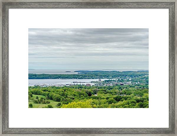 Rockland From Dodge's Mountain Framed Print