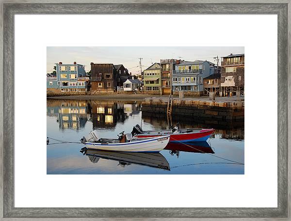 Rockport Boats Framed Print