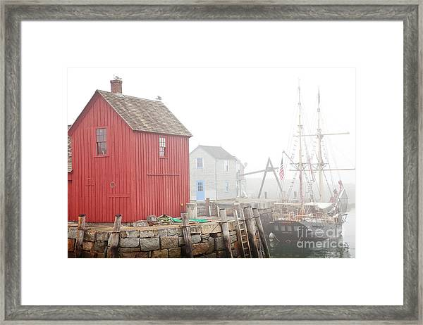 Framed Print featuring the photograph Rockport Fog by Susan Cole Kelly