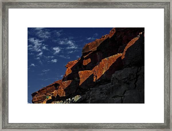 Sky And Rocks Framed Print