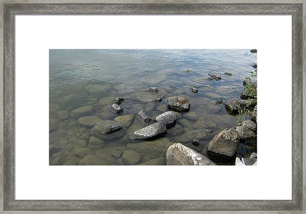 Rocks And Water Too Framed Print