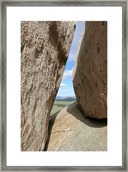 Rocks Magritte Framed Print