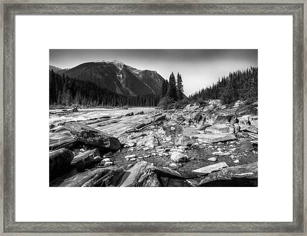 Rocky Banks Of Kootenay River Framed Print