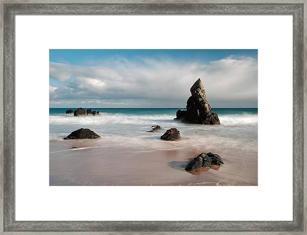 Rocky Beach On Sango Bay Framed Print