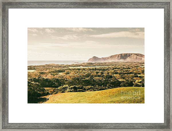 Rocky Capes And Rugged Coasts Framed Print
