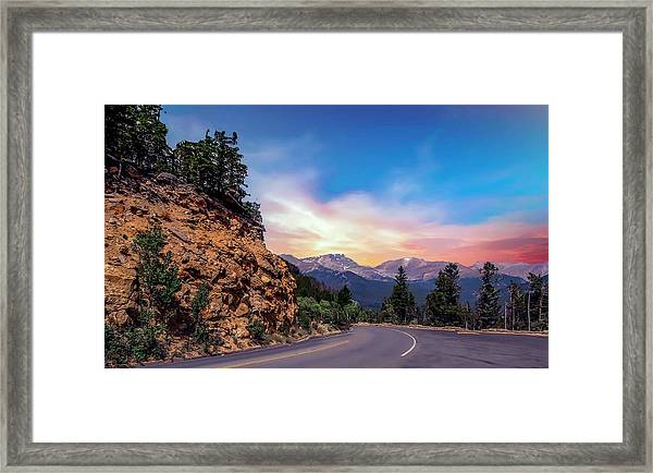 Rocky Mountain High Road Framed Print