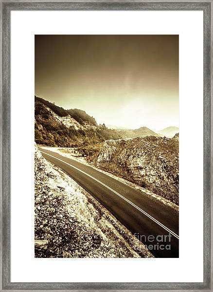 Rocky Mountain Roads Framed Print
