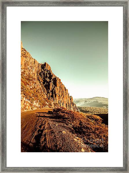 Rocky Mountain Route Framed Print