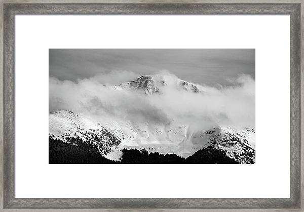 Rocky Mountain Snowy Peak Framed Print