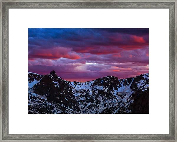 Rocky Mountain Sunset Framed Print