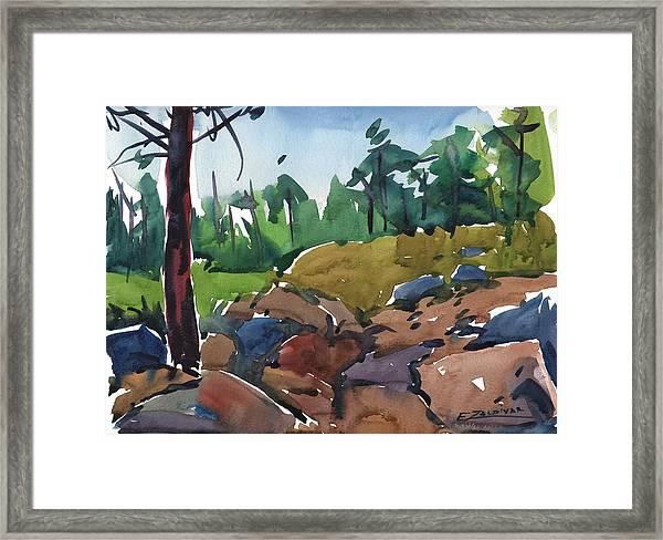 Rocky Passage Framed Print