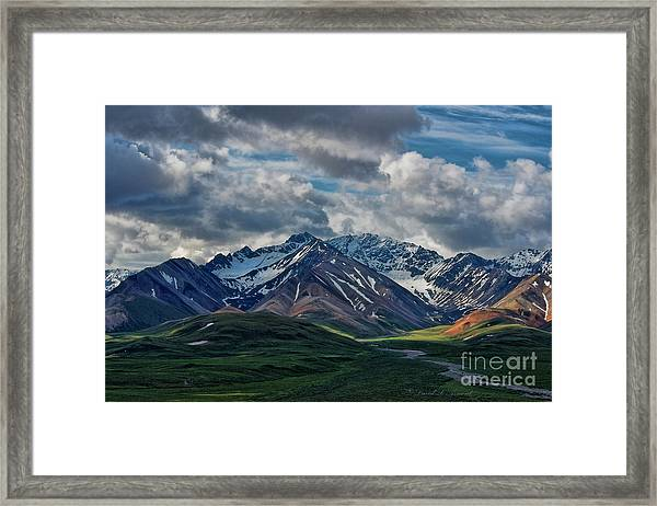 Rocky Range Denali Np Framed Print