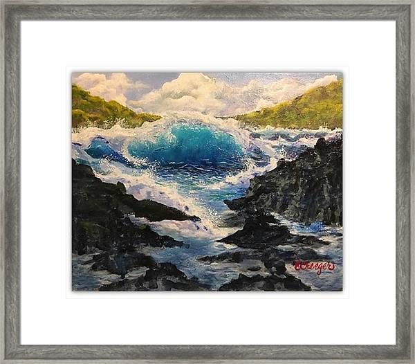 Rocky Sea Framed Print