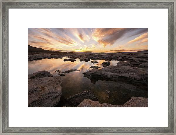 Rocky Shores Of Utah Lake Framed Print