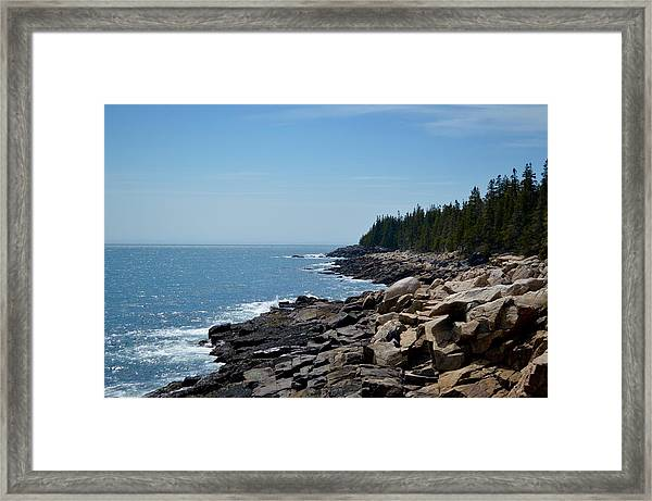 Rocky Summer Shore Framed Print