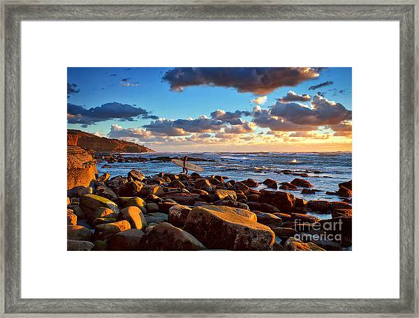 Rocky Surf Conditions Framed Print