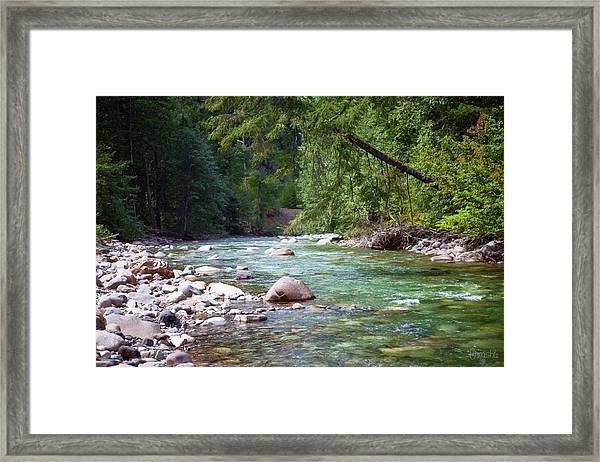 Rocky Waters In The North Cascades Landscape Photography By Omas Framed Print