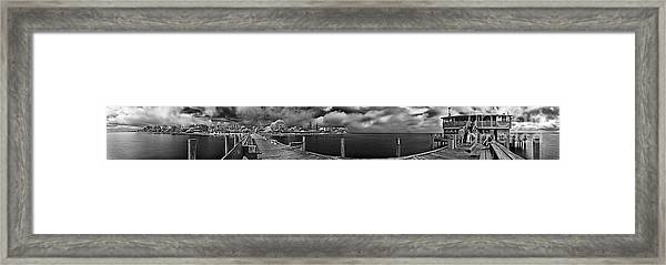 Rod And Reel Pier In Infrared Framed Print