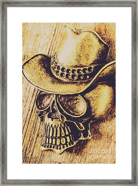 Rodeo Spook Framed Print