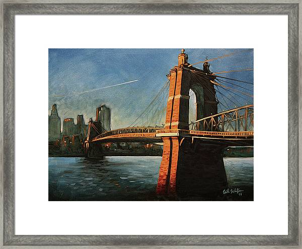 Roebling Bridge No.1 Framed Print