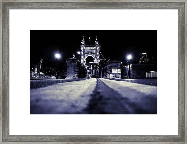 Roebling Suspension Bridge Framed Print