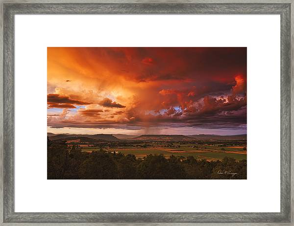Rogue Valley Sunset Framed Print